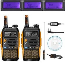 2×Baofeng GT-3 TP Mark III + Cable Tri-Power 1/4/8W Emisora Transceptor Radio FM