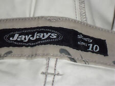 JAYJAYS GreyFloral97%CottonMixAnkleZipsSz10 asNEW