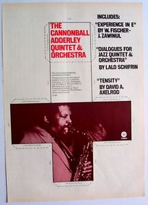 CANNONBALL ADDERLEY QUITET & ORCHESTRA 1970 Poster Ad EXPERIENCE IN E