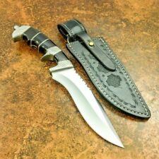 "Beautiful Custom Handmade D2 Steel Bowie Knife & Sheath "" Buffalo Horn Handle"