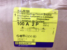 NEW IN BOX Square D HJ 2 pole 100 amp 600 volt HJL26100 PowerPact Breaker HJL