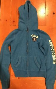 ABERCROMBIE AND FITCH A&F KIDS ZIP UP HOODIE JACKET SIZE XL