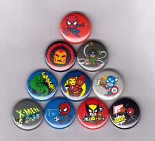 "MARVEL TOKIDOKI SET #2 1"" PINS / BUTTONS (avengers frenzies toys set blind toy)"