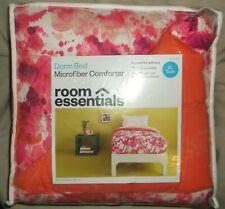 TWIN XL DORM BED COMFORTER PINK SPLOTCH TXL ROOM ESSENTIALS MICROFIBER BRUSHED