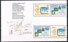Ierland 1990 uit pb 14 bladnr 17 718a-719d 150 jaar postzegels cat waarde € 9
