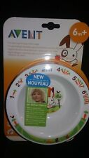 Philips Avent Mealtime set BPA-Free Bowl Baby Kids Dishes Utensil 6M