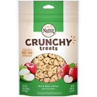 NUTRO Small Crunchy Natural Dog Treats with Real Apple, 10 oz. Bag
