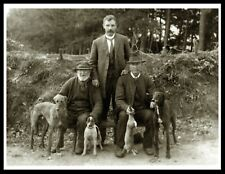 MEN AND THEIR LURCHER GREYHOUND DOGS BEEN HUNTING VINTAGE STYLE DOG PRINT POSTER