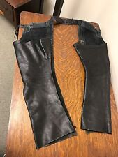 Black Leather Chaps Size Small