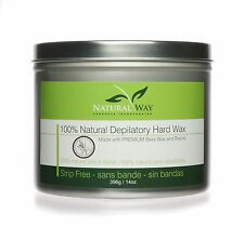 Tea Tree Essential Oil 14oz Depilatory Hard Wax: Universal Can for Warmers