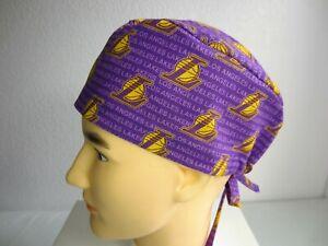 NBA Lakers Surgical cap Scrub Hat Cap, Cotton Fabric Nurse Chemo ER Skull cap