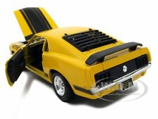 1970 FORD MUSTANG BOSS 302 YELLOW 1:24 DIECAST MODEL CAR BY MAISTO 31943