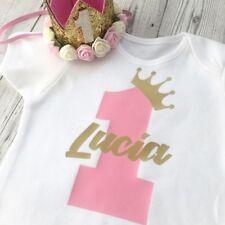 Primer cumpleaños personalizado bebé chicas chaleco traje uno (Tutú 1st y sombrero de no inc)