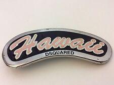 DSQUARED Cintura Fibbia in Metallo Argento GC Vintage Hawaii
