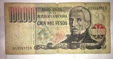 ARGENTINA 100.000 PESOS 1983 MOLTO RARA DA COLLEZIONE