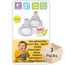 MAM Bottle Accessories (all Teats Spout Brush Valves Handles Bottle Bag) Teat 3 - Fast Flow Non Spill 2pk
