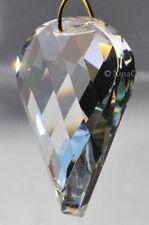 Twist PotatoChip Prism Huge 65mm Austrian Crystal Clear Criss Cross SunCatcher