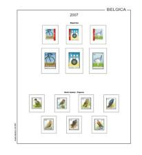 Stamp Pages Filkasol Mounted Belgium Supplement 2007