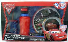 Cars 6 Piece Mealtime Dinnerware Set,Plate,Bowl,Fork&Spoon,Sports Bottle&Sip Cup