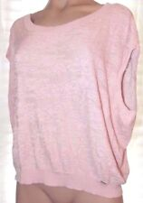 New GUESS S, small sleeveless thin knit textured pink see thru sweater