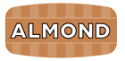 """Almond Labels 1000 per Roll Food Store Flavor Stickers .625"""" X 1.25"""""""