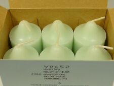 "New Partylite 6 Votive Candles ""Honeydew"""