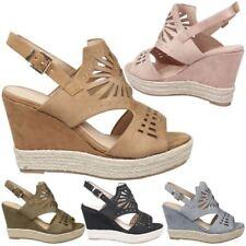 espadrilles élevé (3 à 4 1 / 4) la la la hauteur du talon sandales pour femmes à vendre 89725a