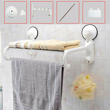 MODERN WALL MOUNTED BATHROOM KITCHEN TOWEL RAILS SOAP STORAGE RACK HOLDER SHELF