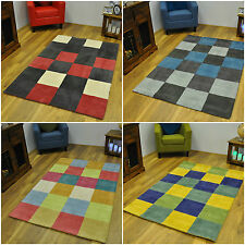 Rectangle Checked Contemporary Rugs
