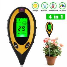 More details for 4in1 soil ph meter tester lcd digital temperature sunlight fertility hygrometer
