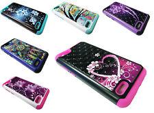 Sparkle Hybrid Phone Cover Case For ZTE ZFive G / C Z557BL Z558VL