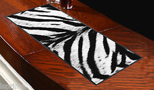 Black & White Tiger Print Bar Runner Ideal For Any Occasion Salon Shop Pub Club