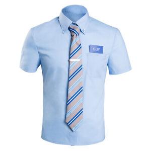 FREE GUY - Guy Cosplay Costume Shirt Halloween Carnival Suit Men Unisex  Necktie