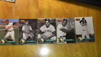 1993 Ted Williams Baseball Card Co. Barrier Breakers 5 Card Breakout Set