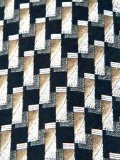 Pierre Cardin Rectangular Brown Black Tan Design Men's Necktie Neck Tie Silk