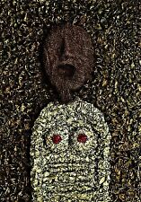 "SUPERB ORIGINAL BRIAN MORTIMER ""Anticipatory Asphyxiation"" OUTSIDER ART PAINTING"