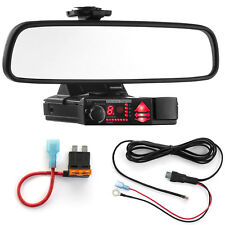 Mirror Mount Bracket + Direct Wire Power Cord + ATO Fuse Tap for Valentine V1