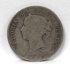 1870 Canada 5 Cents Silver Km2 Victoria Raised Rim - G #01264066g