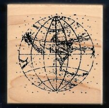 EARTH WORLD MAP PLANET Nautical Continent Limited Edition CLUB SCRAP CRAFT STAMP