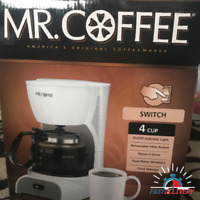 Mr. Coffee 4-Cup Switch Maker, White Small Appliances kitchen