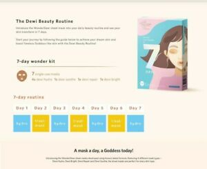 Face Mask 7 Days Wonder Dewi by Wonderlab for glowing, radiant and clear skin
