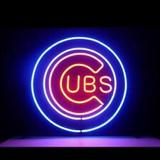 "New Chicago Cubs World Series Man Cave Bar Neon Light Sign 24""X24"""