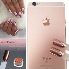 Rose Gold Inkling Chrome Mirror Effect Nails Powder Dust Polish Pigment Nail Art