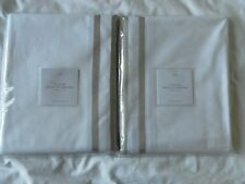 NEW AUTH RESTORATION HARDWARE ITALIAN PARALLEL BORDER SET OF 2 SHOWER CURTAIN