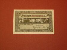 HALBERSTADT, GERMANY 1918 UNC. 25 pf NOTGELD GRA: H3.1a