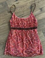 THE LIMITED Beaded Floral Print Scalloped Hem Cami Top - Women's Size Small S