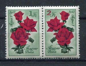S7770) Hongrie 1961 MNH Roses 2v