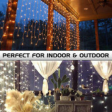 304 LED Fairy Curtain String Lights for Xmas Christmas Wedding Party Backdrops