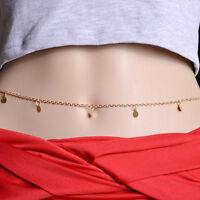 Boho Sexy Trendy Belly Waist Cross Harness Chain Necklace Bikini Body Jewelry