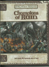 D&D DUNGEONS & DRAGONS D20 RPG (3rd) - FORGOTTEN REALMS, CHAMPIONS OF RUIN